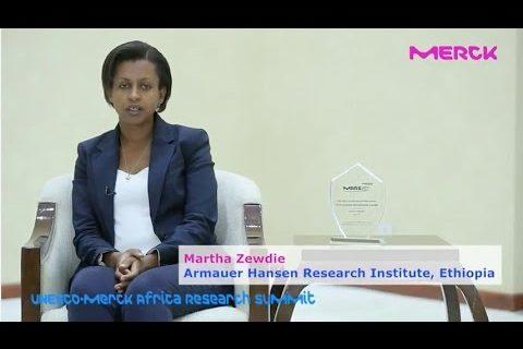 UNESCO-MARS 2016 'Best African Women Researcher Award' 5th place winner, Martha Zewdie from AHRI, Ethiopia