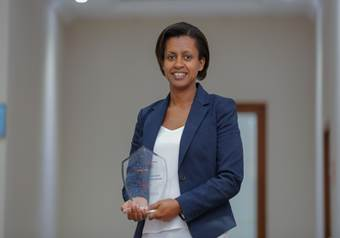 Martha Zewdie from AHRI won 'Best African Women Researchers Award'