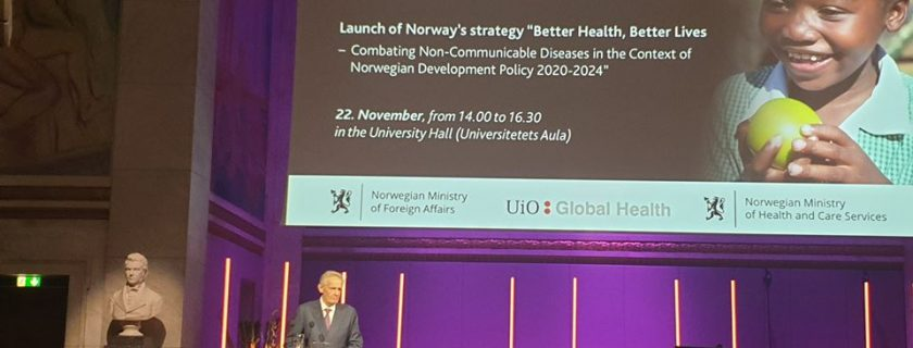 The Government of Norway launched a strategy to combat Non Communicable Disease in Low income countries