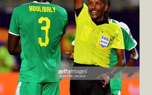 AHRI's Researcher & Ethiopian Referee Bamlak Tessema officiated matches in the 2019 African cup of nations