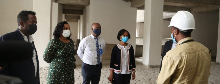 The Ministry of Health, Led By Dr. Lia Tadesse Visit AHRI To Inspect Progress Of The New (Under Construction) Building